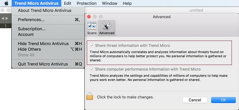 Share threat information with Trend Micro