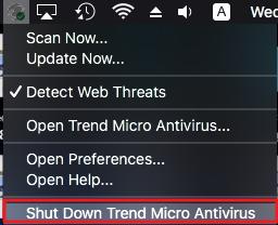 Shut Down Trend Micro Antivirus