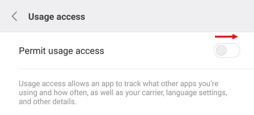 Allow Usage Access