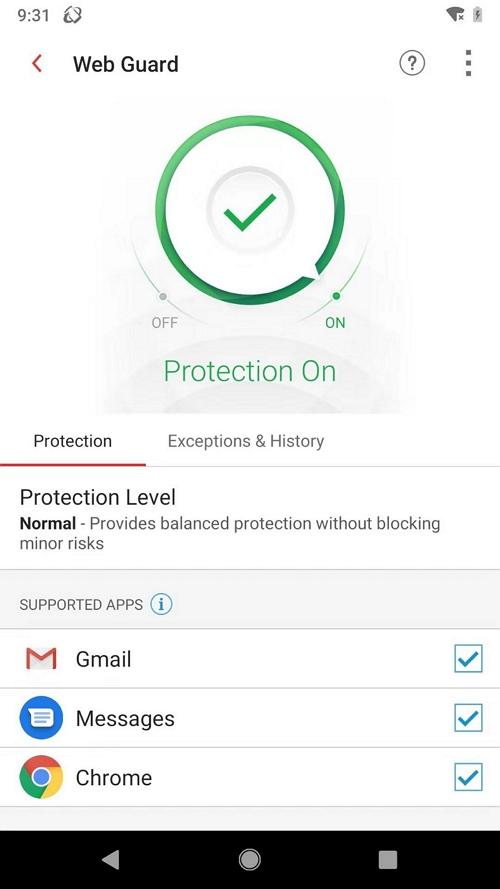 Web Guard - Enable Web Guard