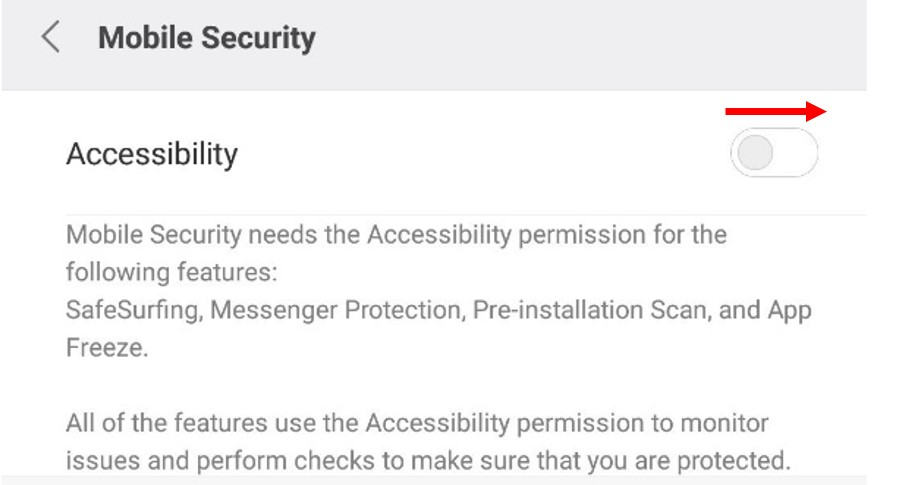 Allow Accessibility