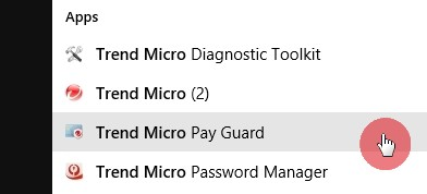 Open_Pay_Guard_Through_Start_Menu_Trend_Micro_Security