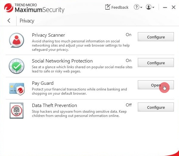 Open_Pay_Guard_Through_Main_Console_Trend_Micro_Security