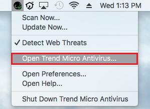Open Trend Micro Antivirus