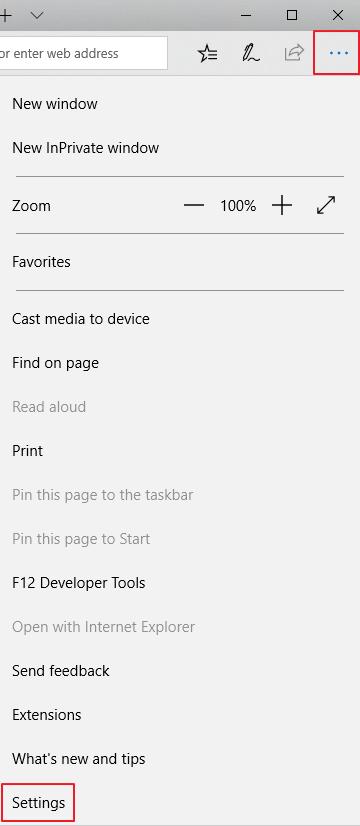 Microsoft Edge - Settings
