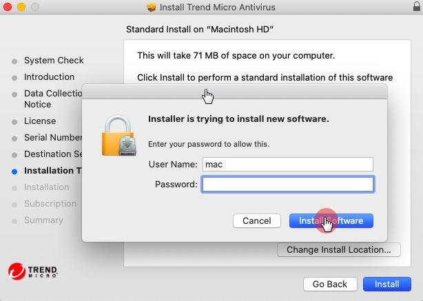 Enter_Credentials_Antivirus_for_Mac