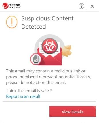 Suspicious Content Detected