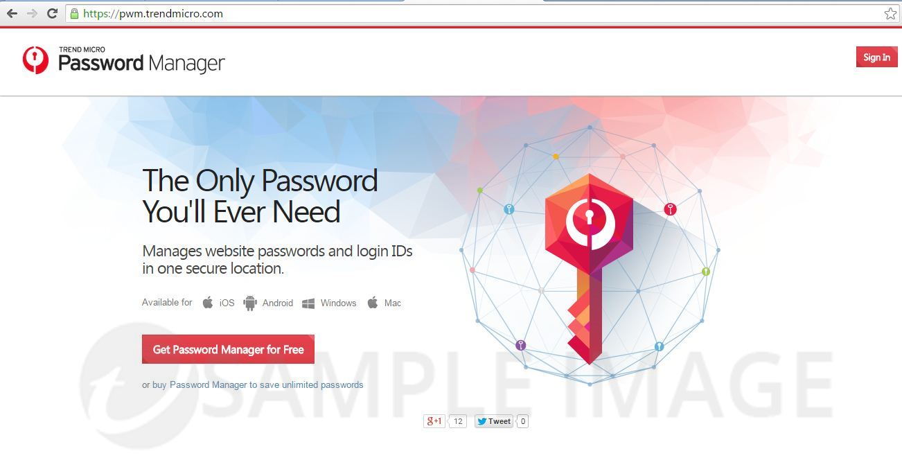 Password Manager Signin page