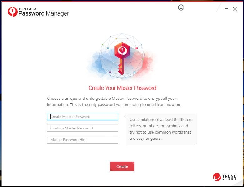 Create Master Password