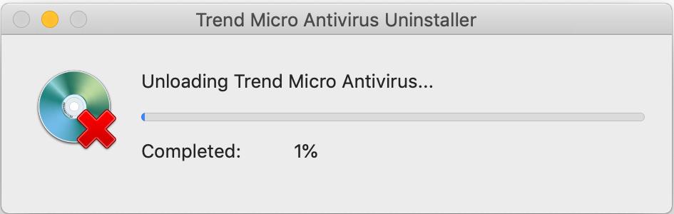 Unloading Trend Micro Antivirus