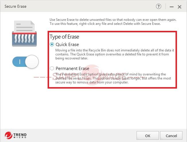 Type of Erase