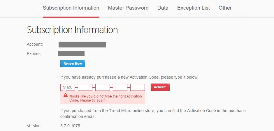 Invalid Activation Key