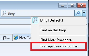 Manage Search Providers