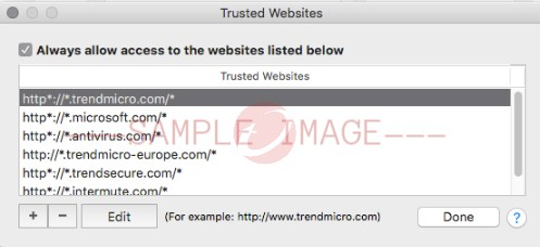 Trusted Websites
