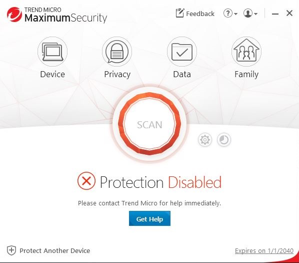 Protection Disabled