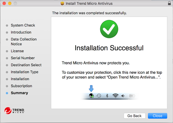 Installation Sucessful