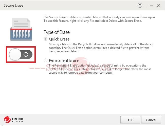 Turn ON Secure Erase