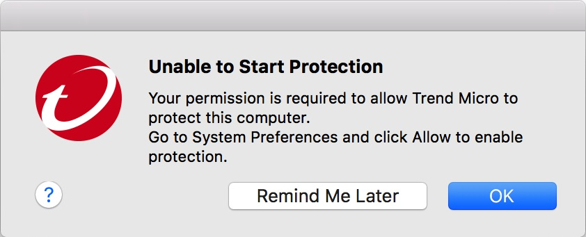 Unable to Start Protection
