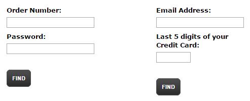 findmyorder website