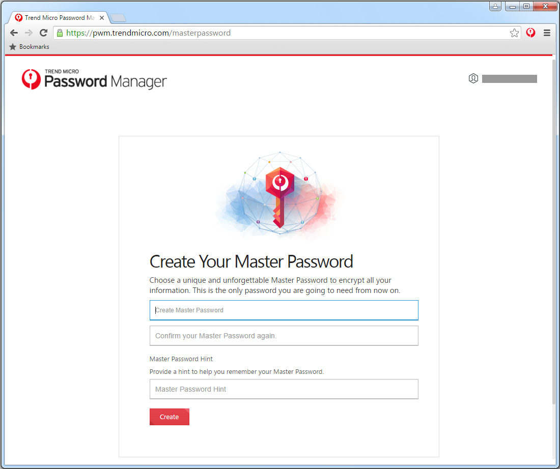 Create your Master Password