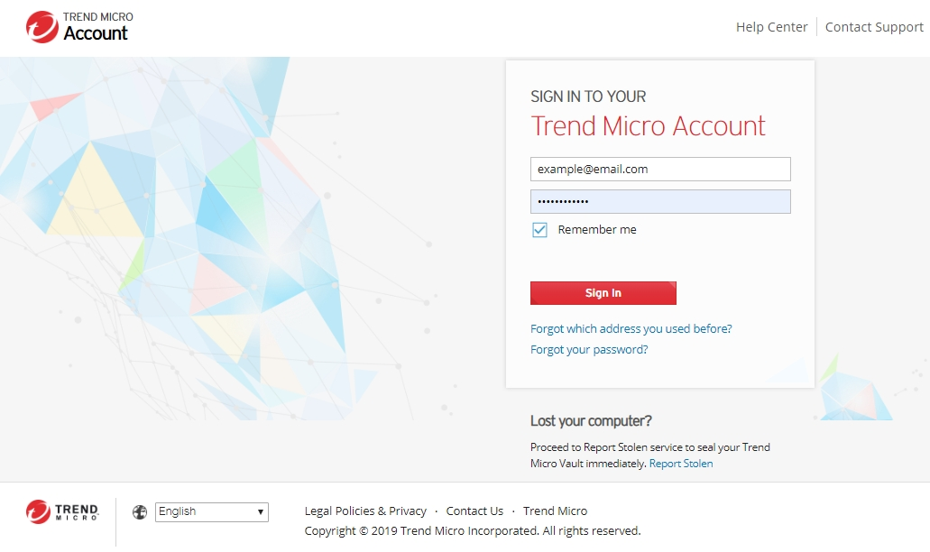 Trend Micro Account (MyAccount)