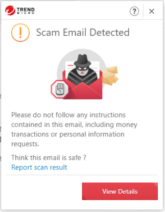 Scam Email Detected