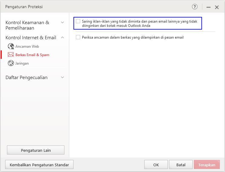 Toolbar Anti Spam