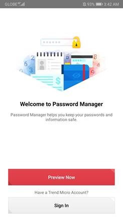 Sign-in in Password Manager