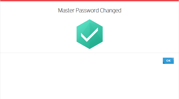 Master Password Changed