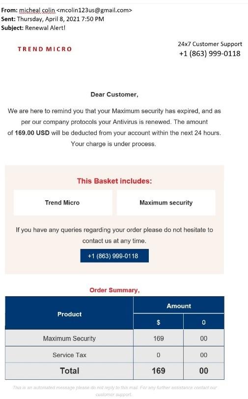 Fake Email - April 2021