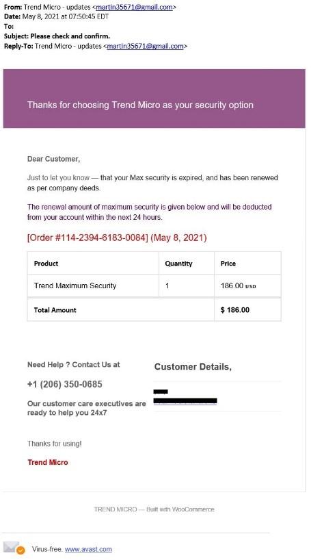 Fake Email - May 2021