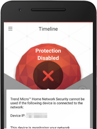 Trend Micro Home Network Security cannot be used if the following device is connected to the network