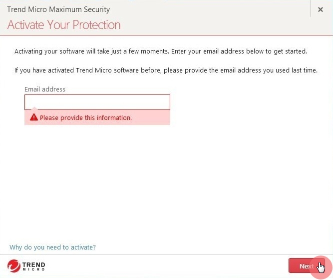 Activation_Provide_Email_Address_Maximum_Security