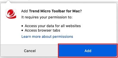 Add Trend Micro Toolbar in Firefox | Antivirus for Mac