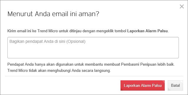 Bagikan informasi ancaman dengan Trend Micro