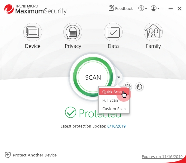 Main_Console_Quick_Scan_Trend_Micro_Security