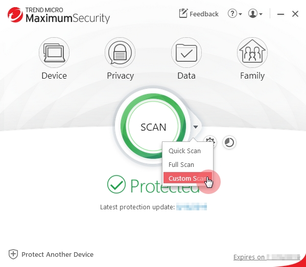 Main_Console_Custom_Scan_Trend_Micro_Security
