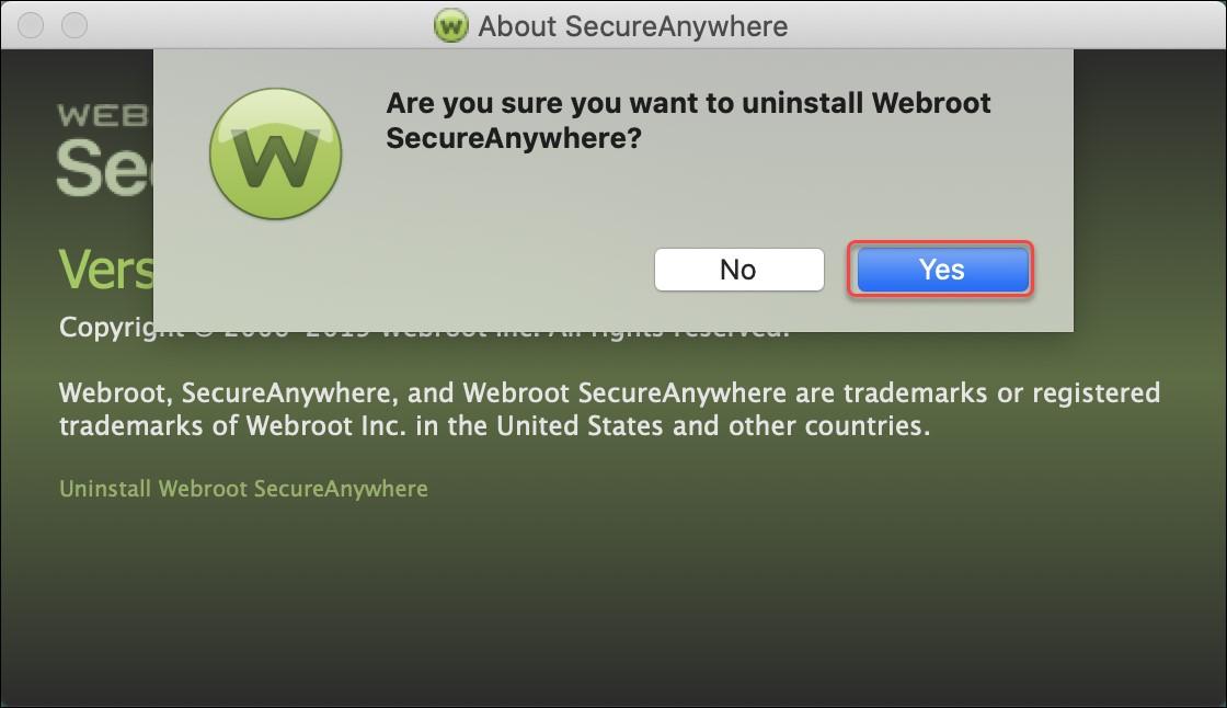 Uninstall Webroot SecureAnywhere